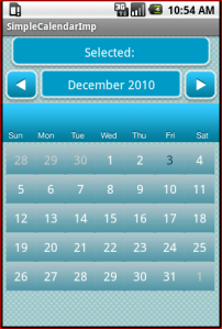 Android Simple Calendar – Wagied Davids Blog