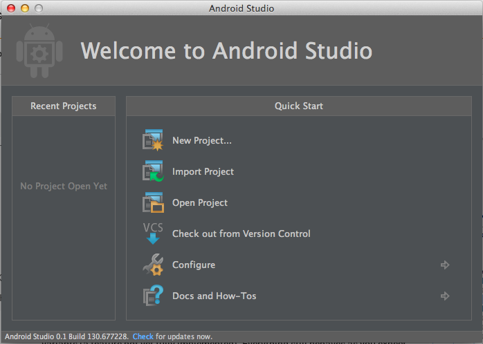Android Studio Start Project